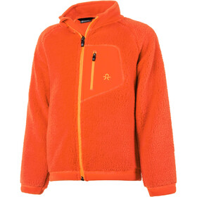 Color Kids Burma Pile Fleece Jas Kinderen, fiery coral